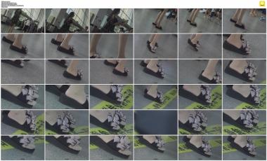 4K视频  大圣4K-趁着那火车快要进站的短暂时间记录小姐姐的凉拖肉  丝 袜 街拍第一站全网原创独发!