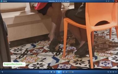HSP视频  【HSP's video1080P】印尼咖啡色  丝 袜 空姐挑鞋[07:20] 街拍第一站全网原创独发!