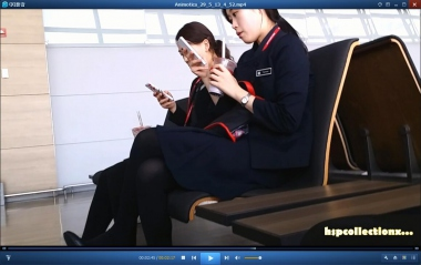 HSP视频  【HSP's video1080P】中厚丝 空姐挑鞋[04:30] 街拍第一站全网原创独发!