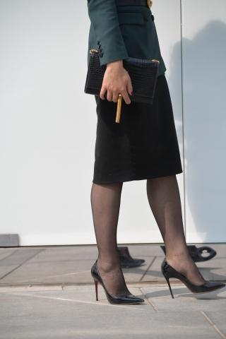 优雅的女士,时尚的 倪妮街拍怎么拍出来的街拍高跟街拍黑丝服饰折服很多人169张