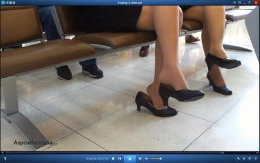 HSP视频  【HSP's video】 美 女 闲谈 挑鞋[07:35] 街拍第一站全网原创独发!