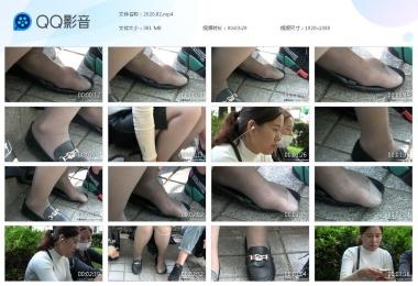 天堂的金币视频  【天堂的金币作品】— 灰丝大脚晾在鞋上 街拍第一站全网原创独发!