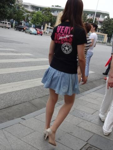 肉 丝牛仔裙——12P - 签约原创独发- 街拍第一站