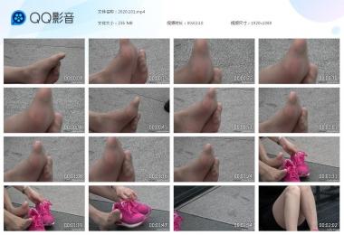天堂的金币视频  【天堂的金币作品】—侧拍运动鞋少 妇晾丝穿鞋 街拍第一站全网原创独发!