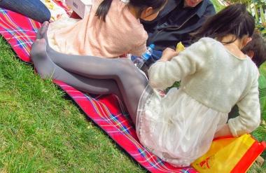 VIP街拍图片发布  【jim2】草地上长腿深灰丝美 女(17p) 街拍第一站全网原创独发!