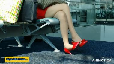 HSP视频  【HSP's video】红色高跟鞋肉 丝美 女挑鞋[03:12] 街拍第一站全网原创独发!