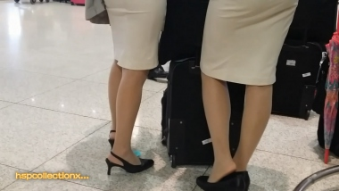 【HSP's video】**丝 袜空姐玩鞋[04:42] - HSP视频- 街拍第一站