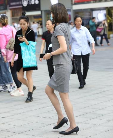 【珏一笑而过】诱惑肉 丝高跟OL - VIP街拍图片发布- 街拍第一站