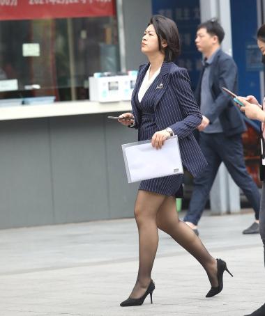 【珏一笑而过】诱惑黑 丝高跟OL-14P - VIP街拍图片发布- 街拍第一站