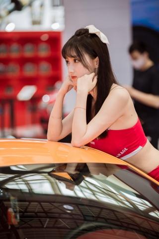 街拍套图超市(招聘原创)  车模特系列之红裙超青纯的模特(89p/921MB)5.31苏州改装车展漂亮 街拍第一站全网原创独发!