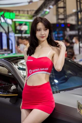 街拍套图超市(招聘原创)  5.31苏州改装车展漂亮车模特系列之漂亮红裙网红脸模特(50p/502MB) 街拍第一站全网原创独发!