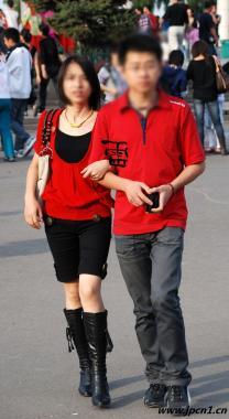 皮 裤 长 靴  雷 -09079-红衣情侣,厚黑,个性红凉牛仔靴,长靴牛仔,时尚杂志 街拍第一站全网原创独发!